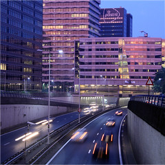 Central Business District (davidvankeulen) Tags: denhaag thehague metropoolrotterdamdenhaag utrechtsebaan a12 snelweg highway centralbusinessdistrict cbd zakendistrict twilight schemering stad city stadt ville davidvankeulen davidvankeulennl davidcvankeulen urbandc europe