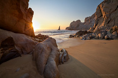 Lands End at Los Arcos, Mexico (gavgristle) Tags: ocean sea sun beach sunrise mexico star sand rocks waves pacific landsend cabosanlucas seaofcortez seastacks loscabos losarcos explored