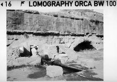 Fresh Water (Gothic74) Tags: auto blackandwhite bw lomography asahi pentax 110 hc110 orca 18mm selfdeveloped pentax110 dilb gothic666 f28biancoenero