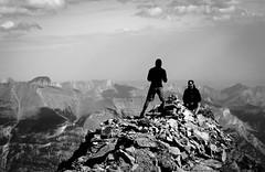 Three Sisters summit (Big Sister) Canmore, Alberta, Canada. (Eric Lamoureux) Tags: mountain canada montagne canon rockies alberta rockymountains canmore bigsister scrambling canadianrockies 500d bowvalley treesisters flickraward t1i flickraward5 albertasrockies