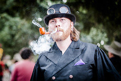 Smoky (Cheto Flep) Tags: male portrait smoke pipe goggles dof bokeh steampunk smoker smoking pipesmoker 50mm 50mm14 iso200 lens:id=160 nikond700 retrato ritratto 14       d700 nikon datetaken:month=07 datetaken:year=2012 datetaken:day=29 datetaken:date=20120729 sunday