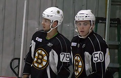 Jakub Zboril and Jake DeBrusk (Odie M) Tags: boston wilmington ristucciamemorialarena bostonbruins developmentcamp rookies 2016developmentcamp nhl hockey icehockey teamsport sport jakubzboril jakedebrusk