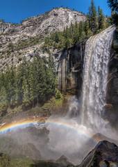Rainbow in Vernal Fall (shalabh_sharma7) Tags: california travel usa water waterfall nationalpark rainbow yosemite yosemitenationalpark yosemitevalley vernalfall misttrail waterrainbow nps100 sonya77ii