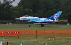 Eurofighter. (aitch tee) Tags: aircraft eurofighter arrivals luftwaffe royalinternationalairtattoo raffairford 3068 specialscheme riat2016 thursday7july2016