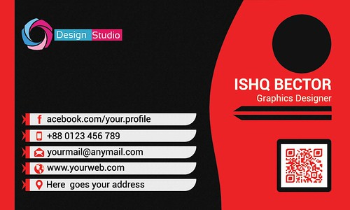 2 Style Red Business Card