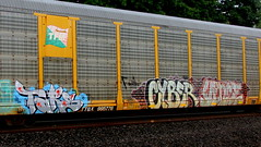 tars - cyber - vince (timetomakethepasta) Tags: tars aa crew cyber vince rail rockers freight train graffiti art autorack new york photography tfm ttgx