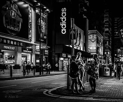 One Night in Hong Kong (Photo Alan) Tags: blackwhite blackandwhite dark night nightstreet streetphotography street streetpeople hongkong china monochrome road