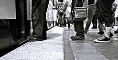 COMMUTERS - DALLAS WEST END STATION (Andrew Moura) Tags: andrew moura west end station trains fire department first responders texas public aid medical paramedics health photography art rescue alert platform blacks sick emergency street mature nikon canon sony girls women crime jail police pd blackandwhite dart american umbrella fans summer heat rapid transit corn blackwhite eat dinner society photojo alcoholism homeless new mexico shopping cart beer wine booze drink outdoor