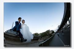 Les maris du pont Bir Hakeim (Gongashan) Tags: fisheye paris france   mariage maris chinois