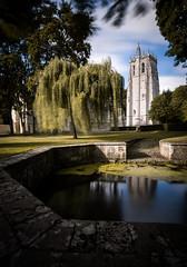 Abbaye du Bec Hellouin (julien roland photographies) Tags: abbaye bec hellouin long exposure canon 6d normandie normandy clouds moines monks pray church glise