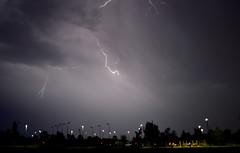 Nature's Fireworks (Eleu Tabares) Tags: lightning monsoon season weather sky clouds rain desert lasvegas nevada