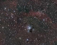 NGC7129 (Chuck Manges) Tags: ngc7129 ngc7142 celestron edgehd hyperstar qhy23m qhyccd astrophotography