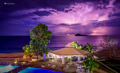 Stormy Night (ceratof1) Tags: green thunder storm lightning ocean beach trees clouds pacific pool santa clara strike island panama
