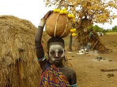 Mursi woman (Ethiopia) (davidevarenni) Tags: etiopia ethiopian mursi woman young tribe trib