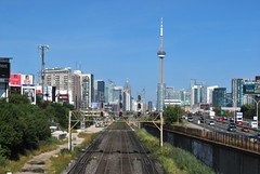 CNE 2016 (Marcanadian) Tags: toronto ontario canada cne 2016 canadian national exhibition place festival carnival summer building architecture skyline cityscape dufferin street gardiner expressway traffic