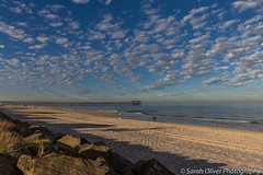 Great early morning clouds over the ocean (SarahO44) Tags: south australia adelaide henley beach sand clouds pier au canon 6d ocean sea