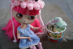 330/366 Ice cream (omgdolls) Tags: blythedoll blythe blythe365 adelaideskye dollypunk21 pureneemobody pink