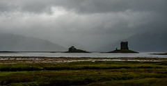 Stalker Castle and rain (Chilanga Cement) Tags: scotland colour color clouds cloud stalker stalkercastle castle mountain water lightroom land