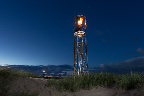Nighttime at the coastline