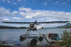 Just Landed (Colin Pacitti) Tags: wildernesslake lakeview lake floatplane aircraft scenery water sky clouds outdoor britishcolumbia canada coth halllake coth5 sunrays5