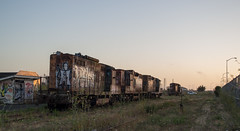 Eureka diesels (#1027) (DB's travels) Tags: california nw0816 abandoned graffiti railroad