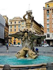Fontana del Tritone - Rome - Piazza Barberini - July 2016 (4)a (litlesam1) Tags: fountains italy rome soloromejuly2016 july2016
