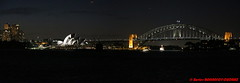 Sydney Harbour by Night - Opera House and Harbour Bridge panorama (soyouz) Tags: aus australie bondijunction gardenisland geo:lat=3385384800 geo:lon=15123477700 geotagged newsouthwales sydney nuit sydneyharbour portjackson harbourbridge operahouse patrimoineunesco pont panorama australiel