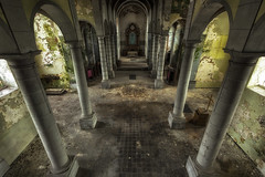 path to salvation (LichtGespiele) Tags: abandoned decay dead death dark darkness decompose detail derelict dust exploration urban urbex ue urbanexploration infiltration church religion religiousicongrp relict green yellow belgium lichtgespiele lost lostplace light lp lines lights left lightray landscape look looking architecture arches columns colors color colorful beautiful