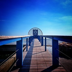 The path to... (JulStas) Tags: seaside sea vanishingpoint blue pontoon atlantic ocean