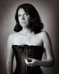 Safe (kate.millerwilson) Tags: selfportrait real monochrome corset woman