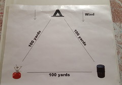 """The """"bear-muda triangle"""" of food tent, food supply, and sleeping areas -- 100 yards between each"""
