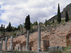 Delphi (dr.heatherleemccarthy) Tags: delphi greece stonework landscape mountain trees
