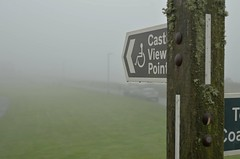 View Point? (Phillip Marshall) Tags: view point sign post fog mist cornwall tintagel wood road