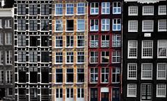 Buildings (Alexandra Kfr) Tags: amsterdam colors couleurs btiments buildings fentres windows architecure yellow jaune rouge red noir black blanc white symtrie symmetry lines lignes