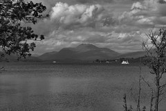 Ben Lomond (Robert & Pamela) Tags: loch lochlomond benlomond water scotland mountain blackandwhite landscape
