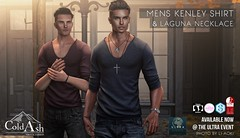 OUT NOW! KENLEY SHIRT & LAGUNA NECKLACE @ ULTRA EVENT (coldashsl) Tags: sl menswear mens mesh clothing fashion male shop coldash cold ash tmd department project themeshproject slink physique signature gianni fittedmesh fitmesh