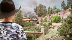 DFR2001 Durango & Silverton Narrow Gauge Railroad (Schoonmaker III) Tags: train trainchasing dsng durangosilvertonnarrowgaugerailroad colorado coloradotrains durangocolorado steamengine film circa2001