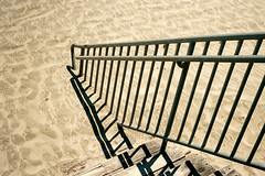 Shadows in the Sand (Austin Beeman) Tags: 2016 olympustrip35 kodakektar100 santacruz california travel 35mmfilm c41