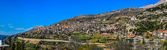 Panoramic Bcharre, Labanon (photo Number 2000) (Paul Saad) Tags: bcharre bsharri lebanon hdr pano panorama panoramic village sky mountain