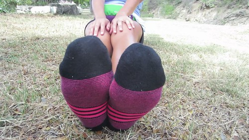 Impressive Asian soles with socks size 10