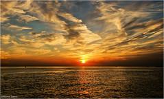 Sunset #5 (Hindrik S) Tags: sunset sun summer sky sinne sinneûndergong simmer zonsondergang zon zomer sommer sonne sonnenuntergang lucht luft loft color colorful colour red read rood rot water wetter wasser sea see zee nederland noardsee northsea nordsee noordzee westerschelde schelde zeeland netherlands weather waar weer reflection reflectie refleksje weerspiegeling wjerspegeling sonyphotographing sony sonyalpha 47 a57 α57 slta57 tamron tamronaf16300mmf3563dillvcpzdmacrob016 16300 tamron16300 2016 amount