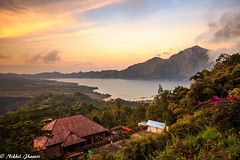 Bali-81080910 Sunset at the volcano (Nikhil Jhaveri Photography) Tags: volcano outdoor scene landscape bali sunset canonflickraward lookat