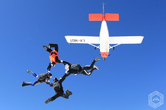 Into the blue (mathieufournel) Tags: skydiving sky flying jumping blueskies action sports