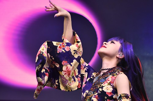 Garnidelia, a Japanese music group, performing on stage at J-Pop Summit 2016 in San Francisco, Calif.