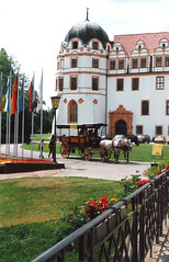 Germany.  June 12th.-20th. 1999 (Cynthia of Harborough) Tags: 1999 architecture animals castles flags flowers horses metalwork people transport