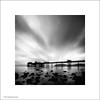 Llandudno Pier at Dawn (Ian Bramham) Tags: bw white black wales dawn pier photo llandudno ianbramham