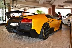 Yellow Monster (Slayclops) Tags: car yellow mall dubai uae super emirates exotic giallo lp orion lamborghini sv 670 superveloce