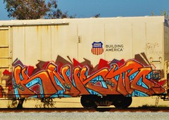 Knistto (nunya...nunyabusiness) Tags: art up train graffiti paint graf tracks zee unionpacific spraypaint freight armn rxr fgs knistt gtl knistto