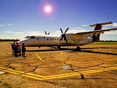 gone bush (Fat Burns) Tags: aircraft queensland qantas dash8 bombardier qantaslink barcaldine