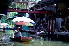 Floating market at Thailand#2 (Kazi Sudipto) Tags: life light woman color water shop lady umbrella river thailand boat canal day market b